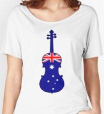 Australian Flag - Viola Women's Relaxed Fit T-Shirt
