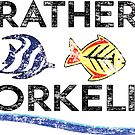 ID RATHER BE SNORKELING SNORKEL SCUBA DIVING OCEAN I'D by MyHandmadeSigns