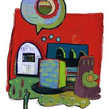 Green Man Speaks To Friends by cupofblue