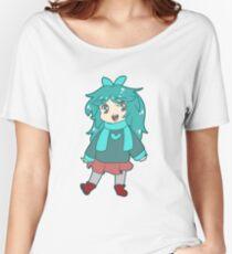 Chibi Blue-Green Girl Women's Relaxed Fit T-Shirt