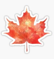 Watercolor Maple Leaf Sticker