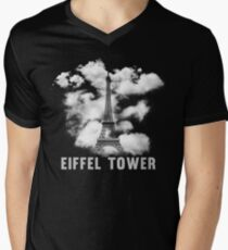 Paris Eiffel Tower Skyline Mens V-Neck T-Shirt