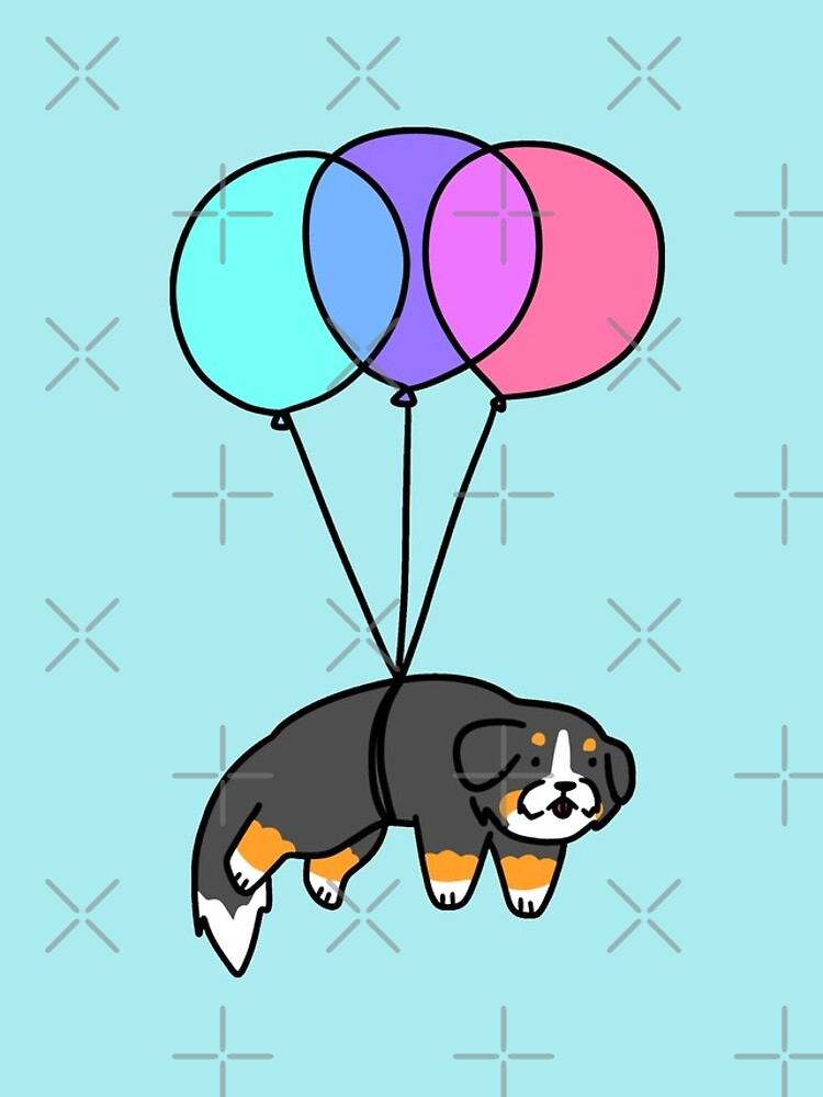 Balloon Bernese Mountain Dog by SaradaBoru