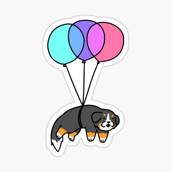 Balloon Bernese Mountain Dog Sticker