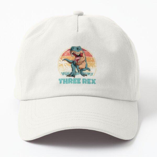 Kids Three Rex Dinosaur Birthday - 3rd Bday T-Rex Lover Dad Hat