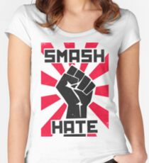 Smash Hate Women's Fitted Scoop T-Shirt