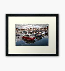 HDR Sunderland Marina Framed Print
