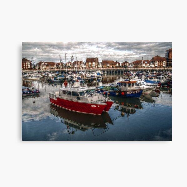 HDR Sunderland Marina Canvas Print