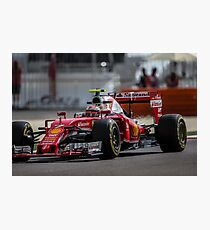 Formula 1 racing cars 2016 Kimi Raikkonen  Photographic Print