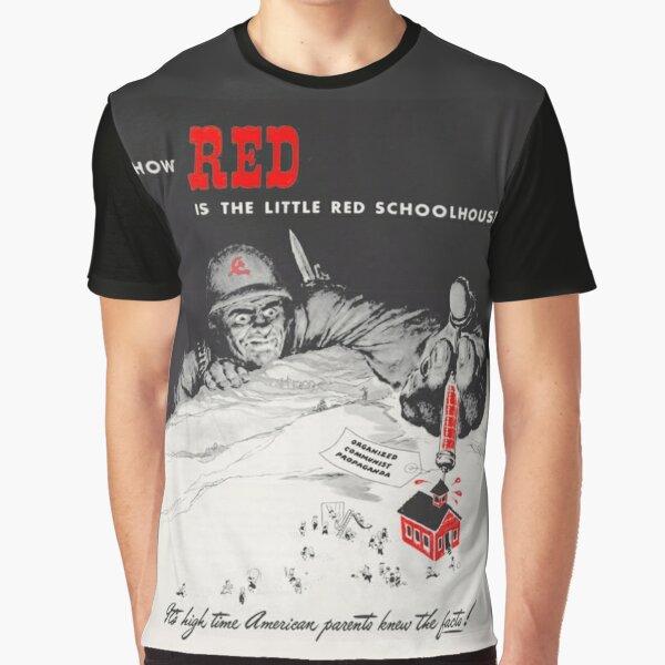 ¿Cómo de rojo es la pequeña escuela roja? Camiseta gráfica