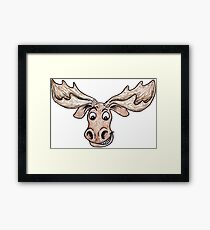 Silly Moose Framed Print