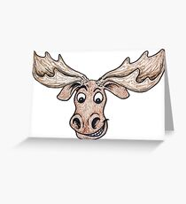 Silly Moose Greeting Card