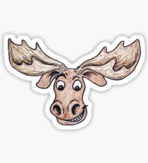Silly Moose Sticker