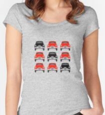Red and black cars Women's Fitted Scoop T-Shirt