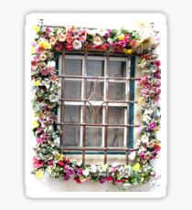 The Window Flower Garland Sticker