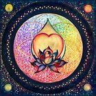 """The Drop of Golden Rain"" - Mandala of Wealth by Anna Miarczynska"