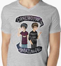 Danisnotonfire & Amazingphil  Men's V-Neck T-Shirt