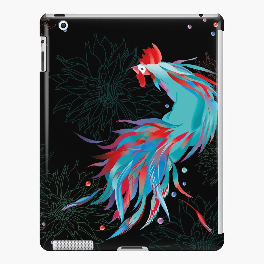 Blue  Rooster iPad Case & Skin
