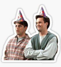 chandler & joey Sticker