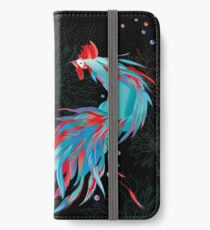 Blue  Rooster iPhone Wallet/Case/Skin
