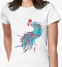 Blue  Rooster Fitted T-Shirt