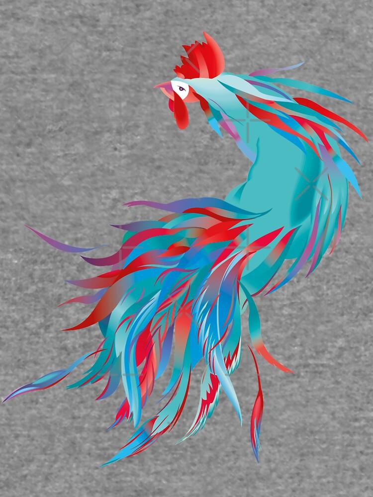 Blue  Rooster by rusanovska