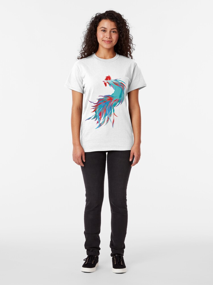 Alternate view of Blue  Rooster Classic T-Shirt