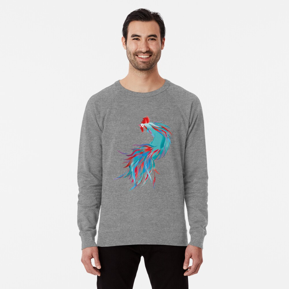Blue  Rooster Lightweight Sweatshirt