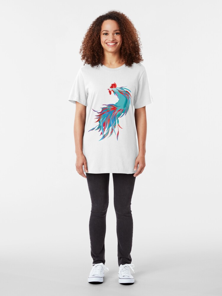 Alternate view of Blue  Rooster Slim Fit T-Shirt
