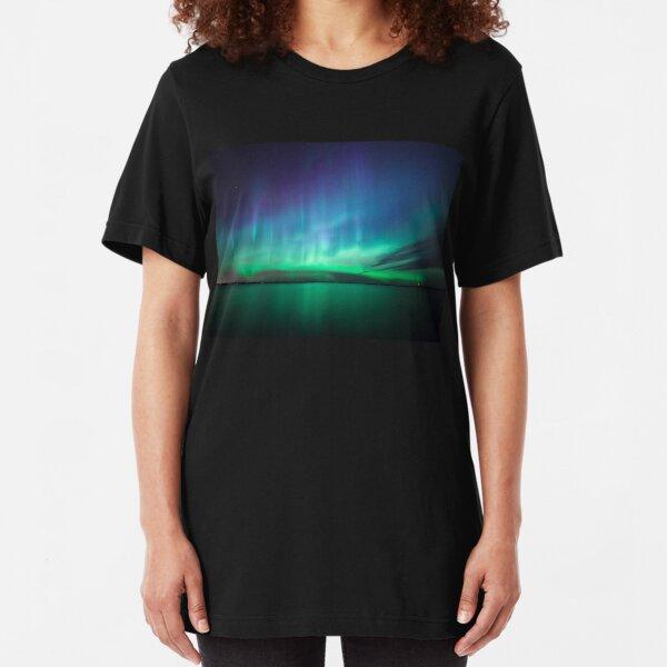 Beautiful northern lights Slim Fit T-Shirt