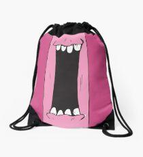 Pink Creature Drawstring Bag