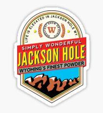JACKSON HOLE WYOMING Mountain Skiing Ski Snowboard Snowboarding Powder Sticker
