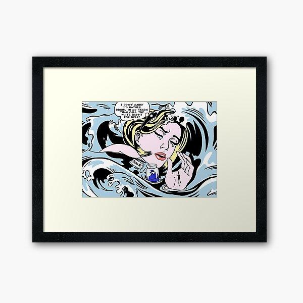 Drowning Alice Framed Art Print