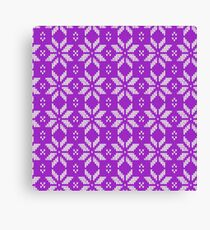 Knitted Snowflake Purple Canvas Print