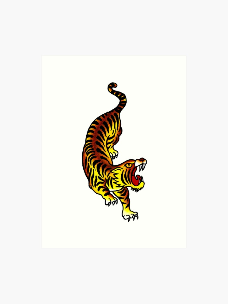 90dd96554 Traditional Tiger Tattoo design