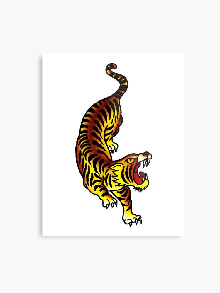 c0dbe019bdede Traditional Tiger Tattoo design