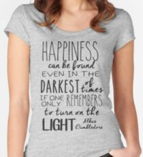 Turn on the Light Women's Fitted Scoop T-Shirt