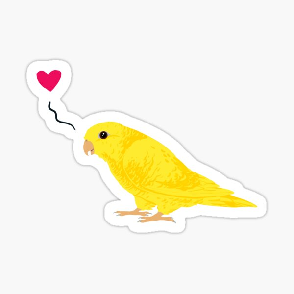 lutino linnie love Sticker
