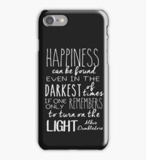 Turn on the Light - White Version iPhone Case/Skin