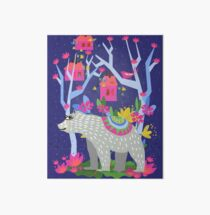 Bear In Forest Art Board