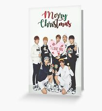 BTS Christmas Card Greeting Card