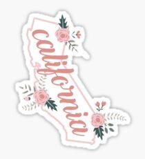 California Floral Sticker
