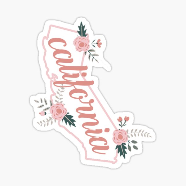 California Floral Sticker