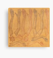 Hands Chart in Gold Canvas Print