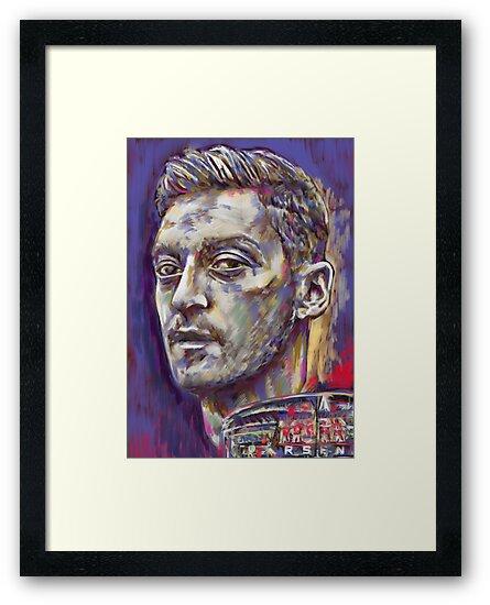 Mesut Ozil - Pride of the Emirates Stadium by ArsenalArtz