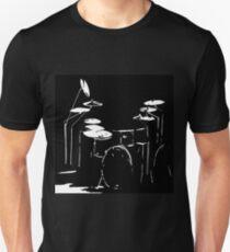 Drum kit black and white Unisex T-Shirt