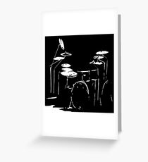 Drum kit black and white Greeting Card