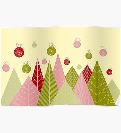 Ornaments and Trees Poster