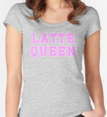Latte queen T-shirt. Limited edition design! Women's Fitted Scoop T-Shirt