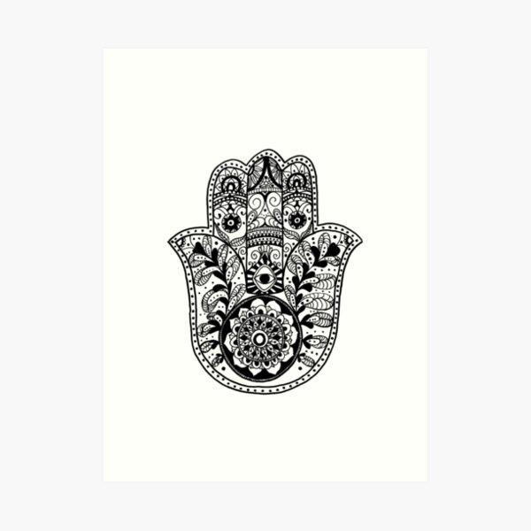 The Hamsa Hand Art Print